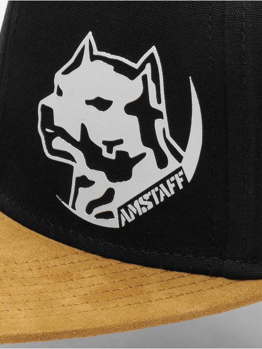 Amstaff Snapback Cap Hendog schwarz