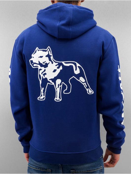 Amstaff Sweat capuche zippé Logo bleu