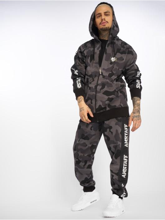 Amstaff Sweat capuche zippé Rezzo camouflage