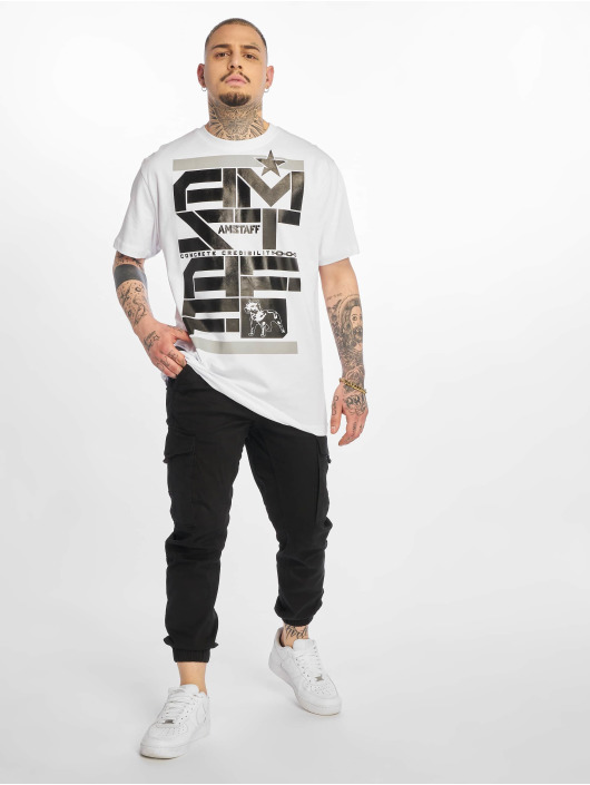 Amstaff T-shirts Derky hvid