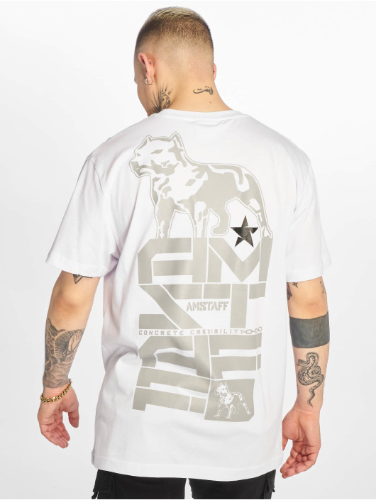 Amstaff T-Shirty Derky bialy