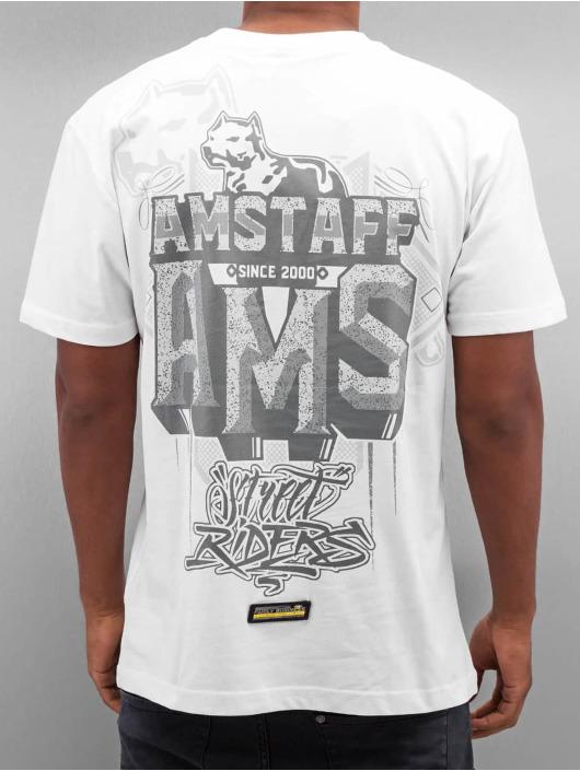 Amstaff T-skjorter Harson hvit