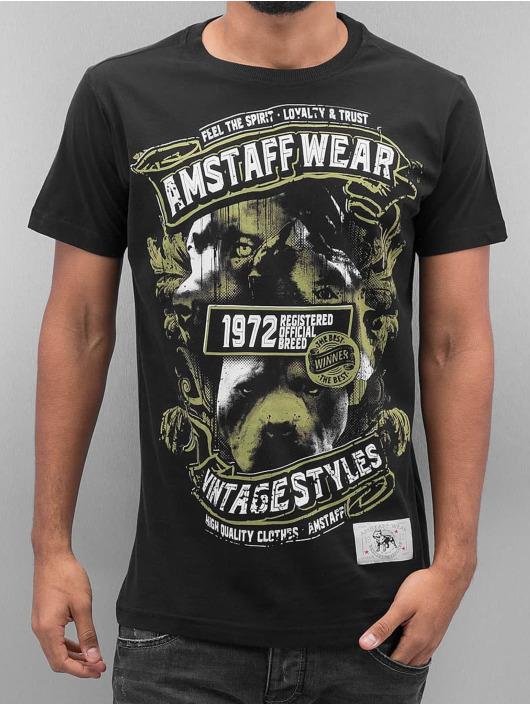 Amstaff T-skjorter Isanto svart