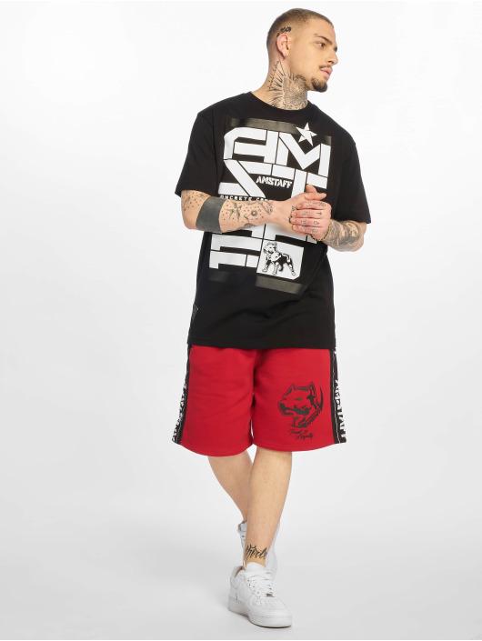 Amstaff T-skjorter Derky svart
