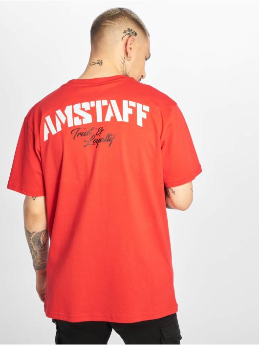 Amstaff Tričká Logo 2.0 èervená