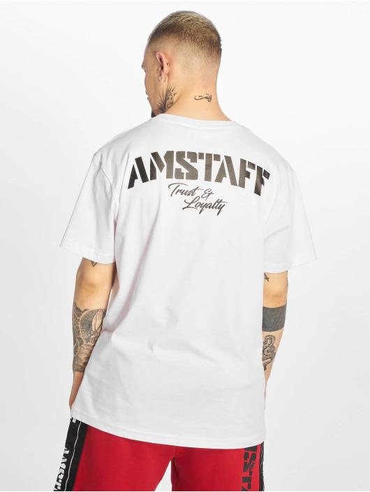 Amstaff Tričká Logo 2.0 biela