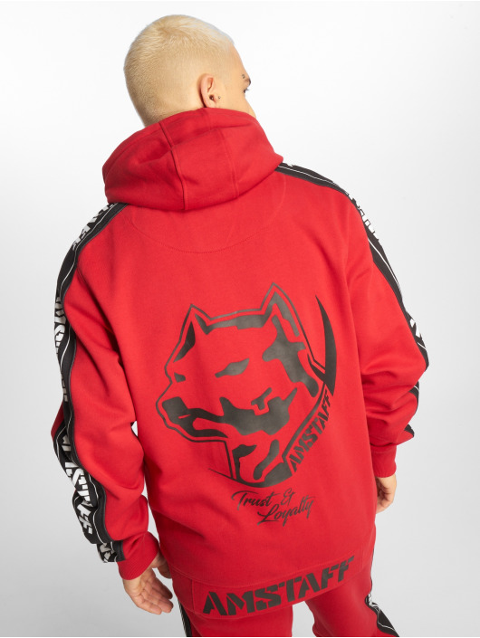 Amstaff Zip Hoodie Avator červený