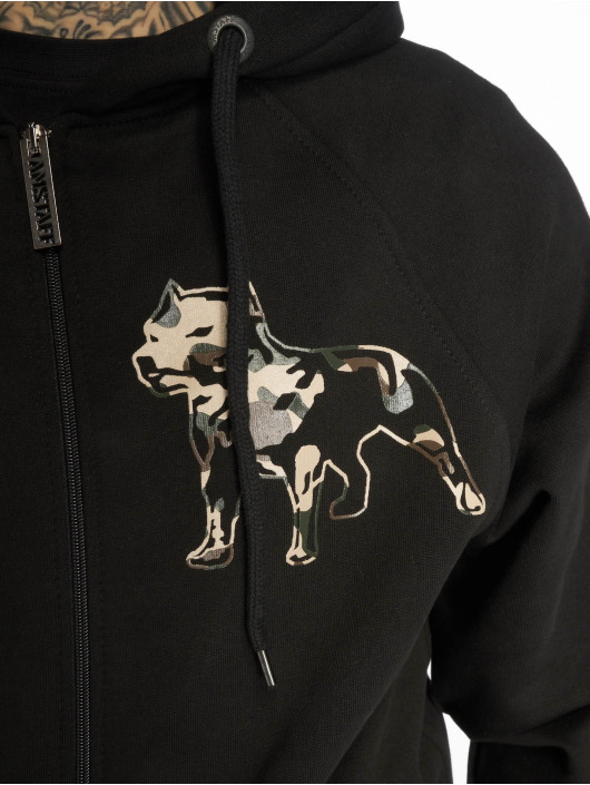 Amstaff Zip Hoodie Logo 2.0 black