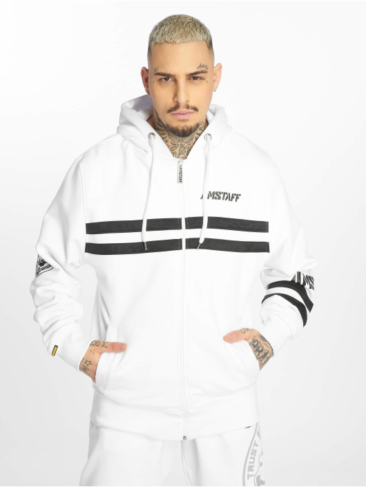 Amstaff Zip Hoodie Okus white