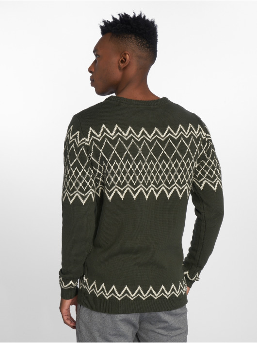 Anerkjendt Pullover Zag Knit grün