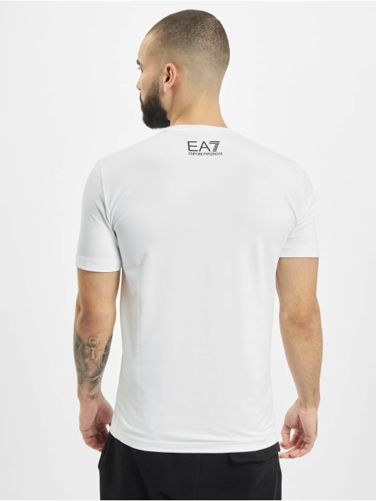 Armani Camiseta Logo Stripe blanco