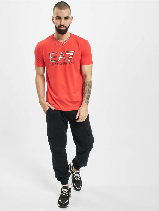Armani Camiseta EA7 II V-Neck rojo