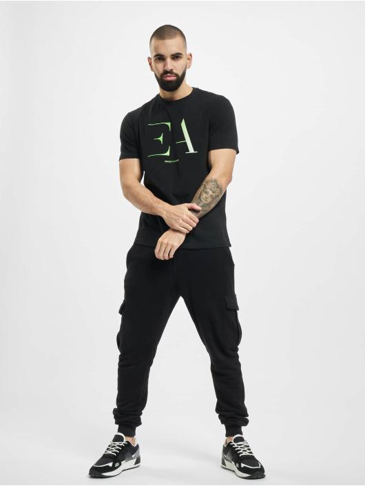 Armani T-paidat Logo EA musta