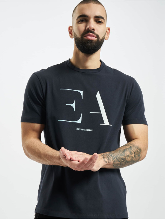 Armani T-shirt Logo EA blå