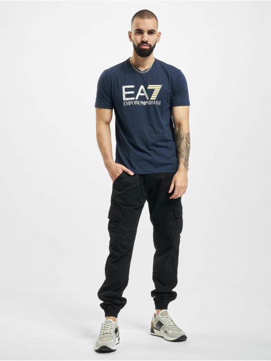 Armani T-shirt EA7 II V-Neck blå