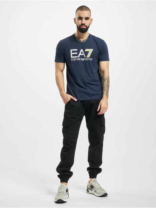 Armani T-Shirt EA7 II V-Neck blau