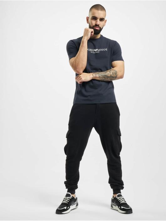 Armani T-Shirt Logo blau