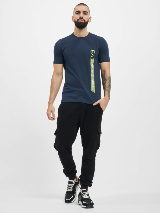 Armani t-shirt Logo Stripe blauw