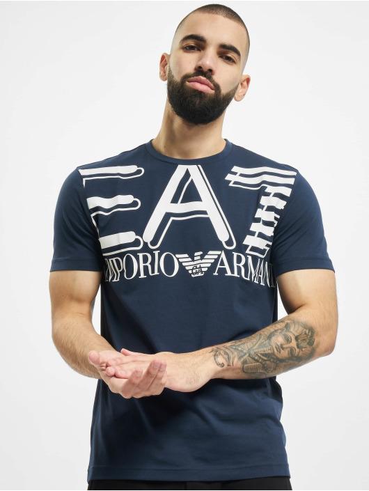 Armani t-shirt Modern Logo blauw