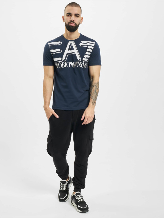 Armani T-Shirt Modern Logo bleu