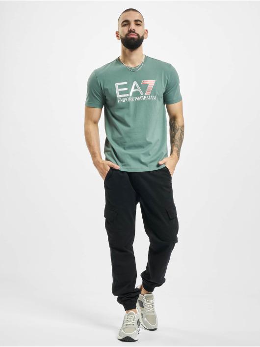 Armani T-shirt EA7 II V-Neck grön