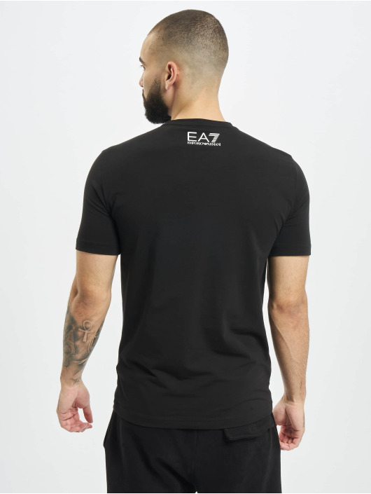 Armani T-shirt Logo Stripe nero