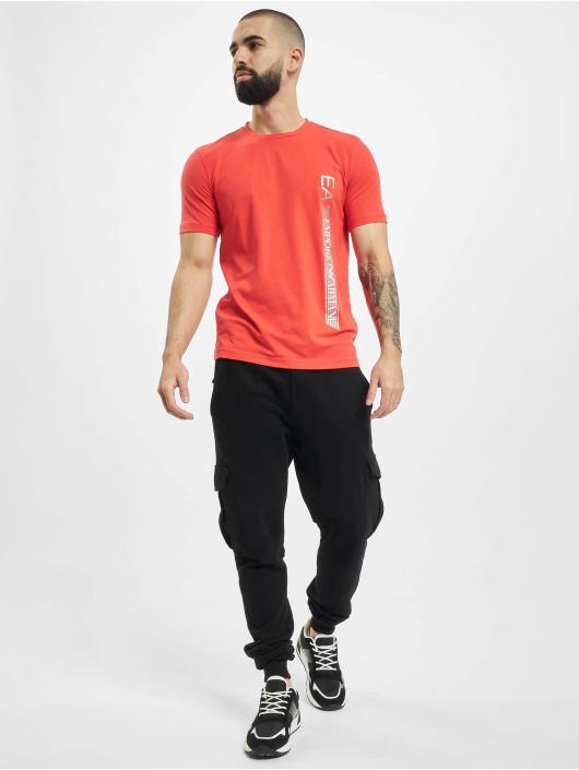 Armani T-shirt Logo Stripe rosso