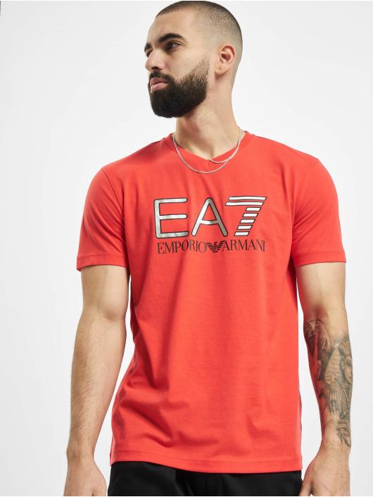 Armani T-Shirt EA7 II V-Neck rot
