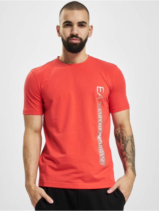 Armani T-Shirt Logo Stripe rot