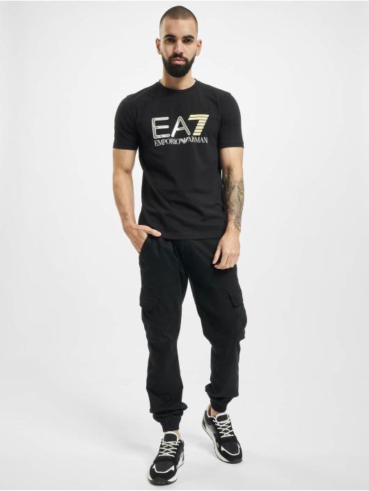 Armani T-Shirt EA7 II V-Neck schwarz