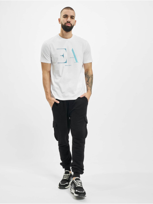 Armani T-Shirt Logo EA weiß