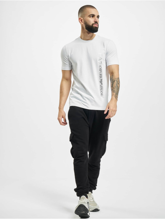 Armani T-Shirt Logo Stripe weiß