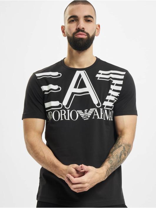 Armani t-shirt Modern Logo zwart