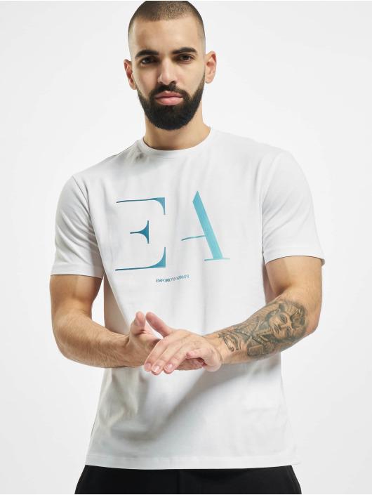 Armani T-shirts Logo EA hvid