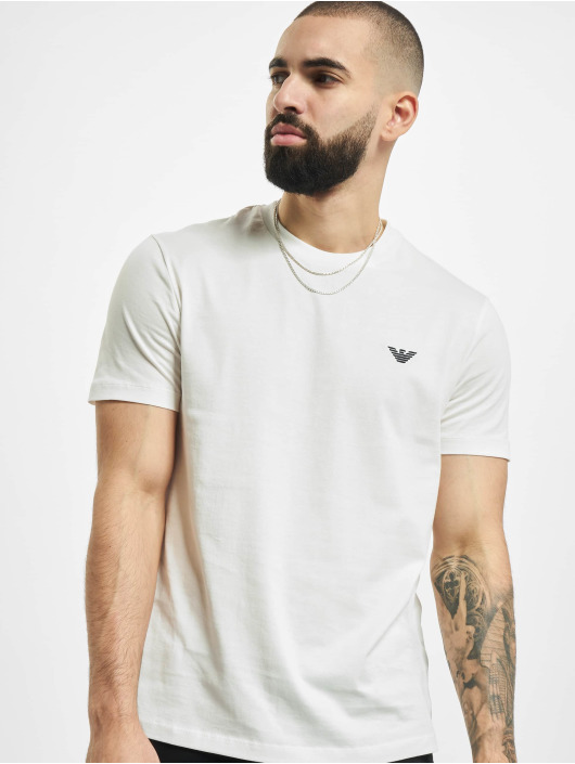 Armani T-Shirty Basic bialy