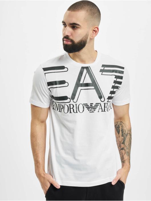 Armani T-Shirty Modern Logo bialy