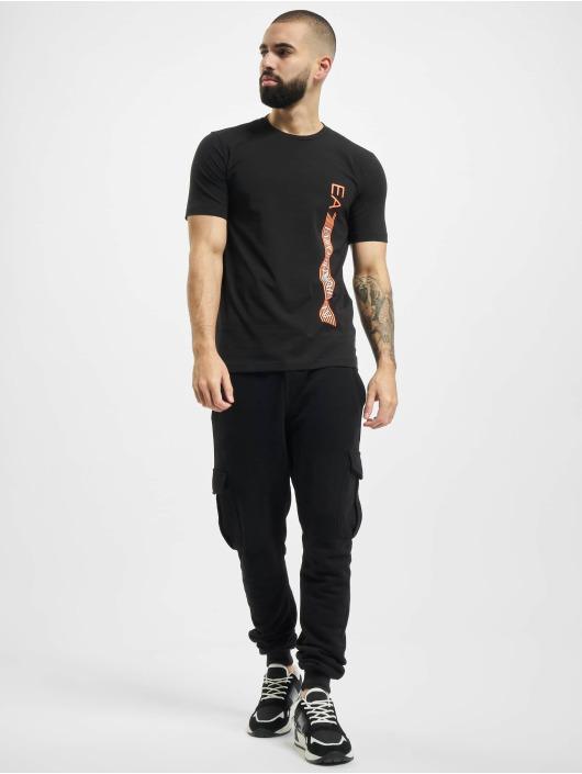 Armani T-Shirty Logo Stripe czarny