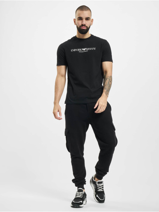 Armani T-Shirty Logo czarny