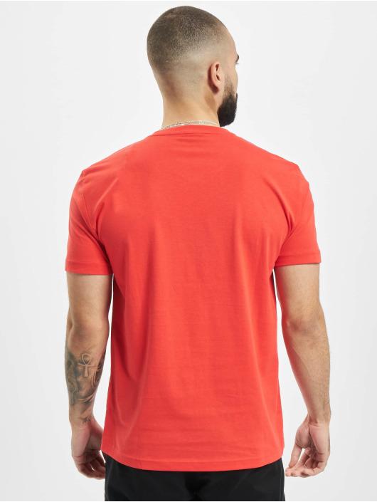 Armani T-Shirty EA7 II V-Neck czerwony