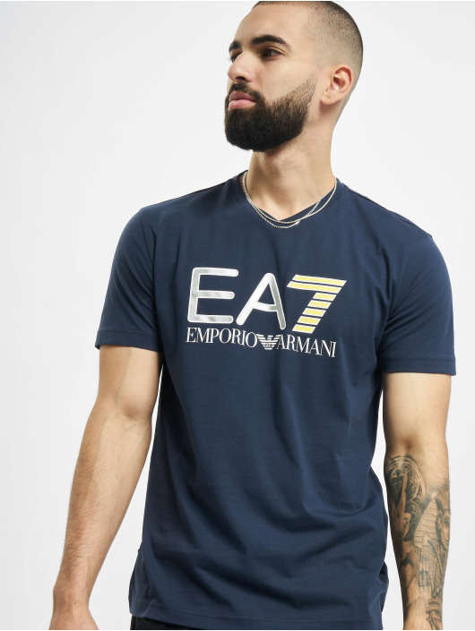Armani T-Shirty EA7 II V-Neck niebieski