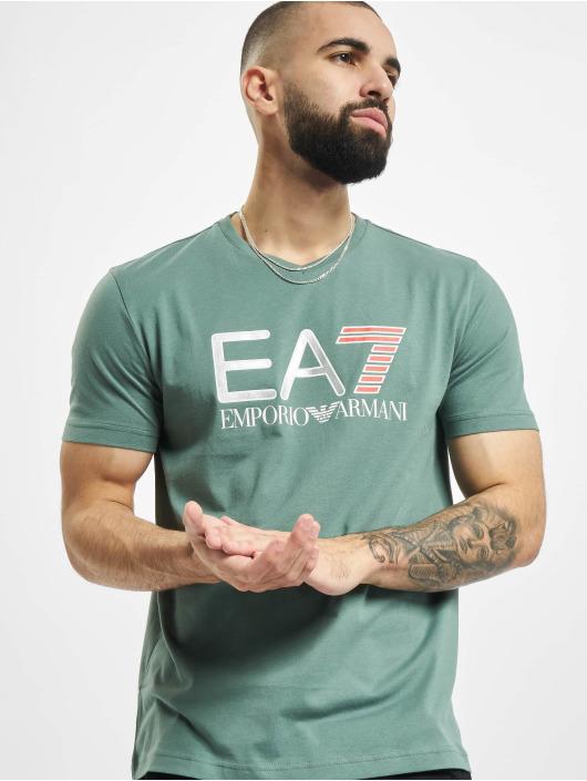 Armani T-Shirty EA7 II V-Neck zielony