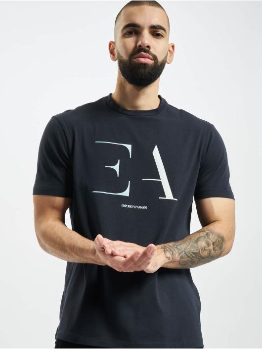 Armani T-skjorter Logo EA blå