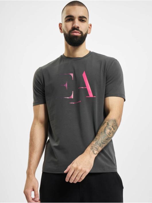 Armani T-skjorter Logo EA grå