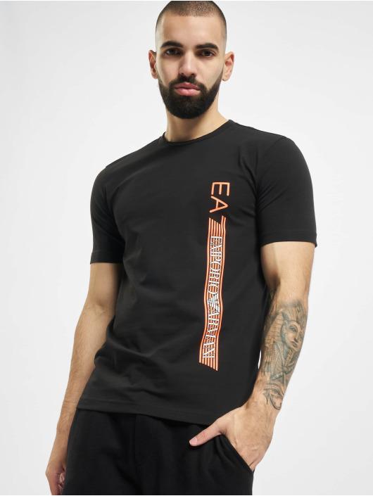 Armani Tričká Logo Stripe èierna