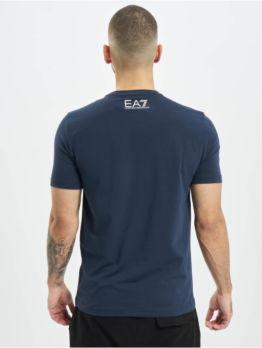 Armani Tričká Logo Stripe modrá