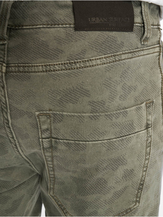 Authentic Style Pantalón cortos Denim Optic Bermuda Allover Print verde