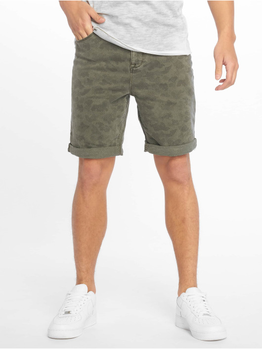 Authentic Style Shorts Denim Optic Bermuda Allover Print grøn