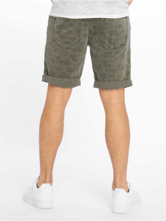 Authentic Style shorts Denim Optic Bermuda Allover Print groen