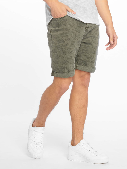 Authentic Style Shorts Denim Optic Bermuda Allover Print grün