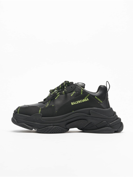 Balenciaga Сникеры Triple S Allover Logo черный